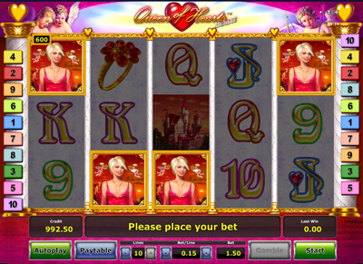 free online slots queen of hearts