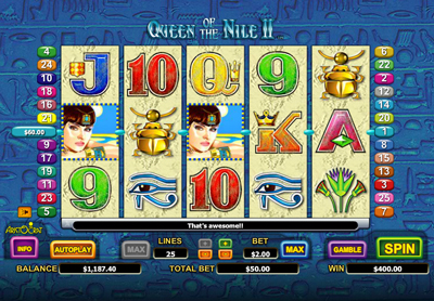 Queen of the Nile 2 Slot Machine - Ancient Egypt Sequel Slot