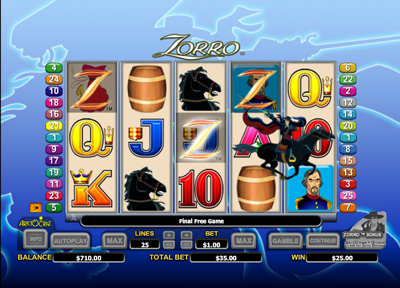 free zorro casino games