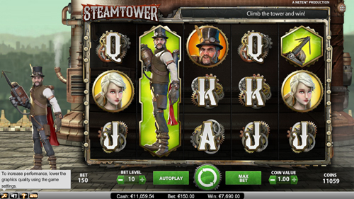 Steam Tower Slots